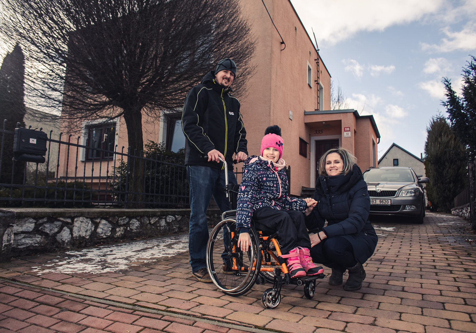 We contributed to Evička's daily rehabilitation with a therapist